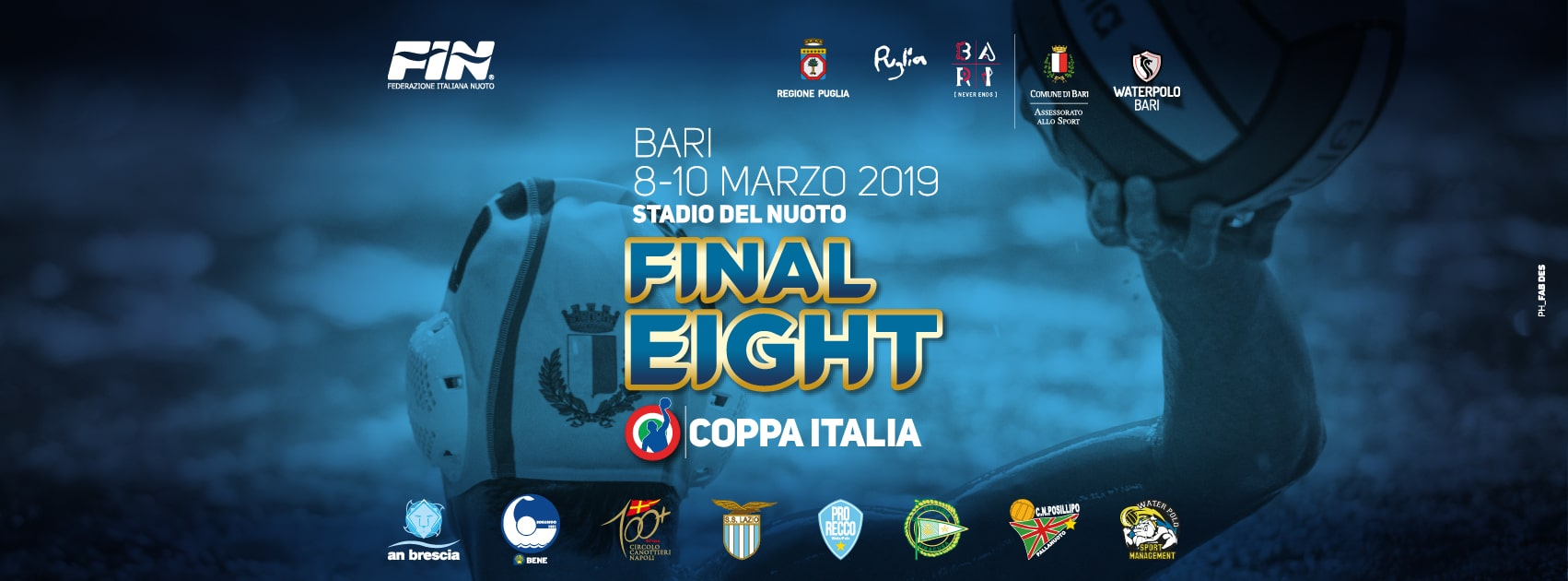 final eight coppa italia pallanuoto maschile campionato 2019